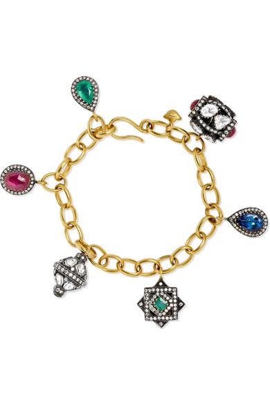 18-karat Gold, Sterling Silver And Multi-stone Bracelet - one size Amrapali