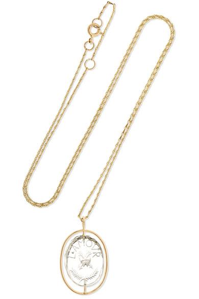 Cauri 9 Carats N2 Or Rose, Onyx Et Boucle D'oreille Diamant - Taille Pascale Monvoisin