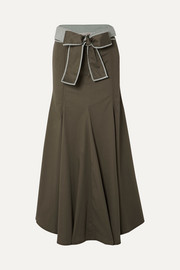 Silvia Tcherassi Abate belted stretch-cotton skirt