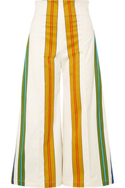 Pietrone striped stretch-cotton wide-leg pants