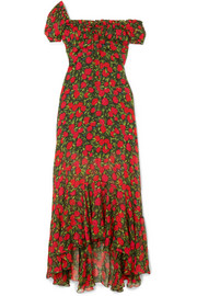 Alice floral-print silk-chiffon maxi dress