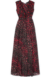 Gaia floral-print silk-chiffon maxi dress