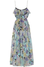 Alix printed silk-georgette gown