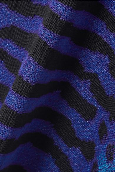 Proenza Schouler Pullover aus Seide mit Pointelle-Einsätzen und Intarsienmuster