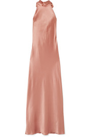 Silk-satin maxi dress