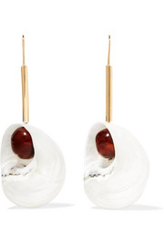 Loewe Snails gold-tone, resin and shell earrings
