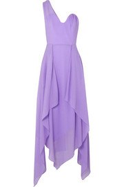 Roland Mouret Felcourt one-shoulder silk-crepe dress