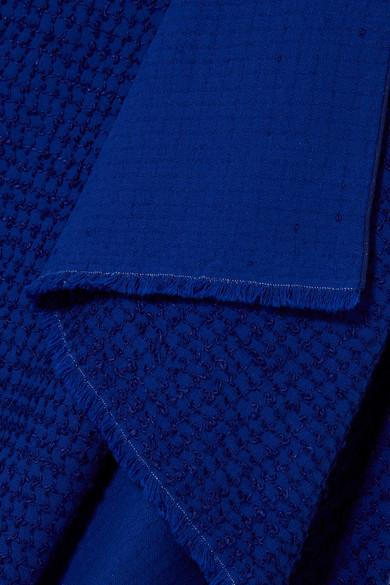 Roland Mouret Drapiertes Kleid aus Bouclé aus einer Baumwollmischung