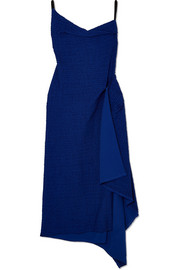 Roland Mouret Draped cotton-blend bouclé dress
