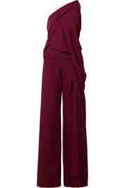 Roland Mouret Nettleton draped one-shoulder silk-crepon jumpsuit