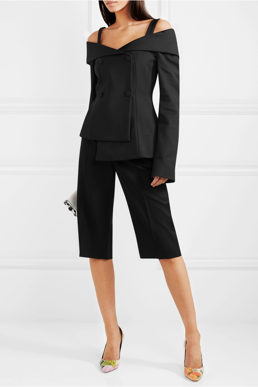 Off-White Off-the-shoulder twill blazer