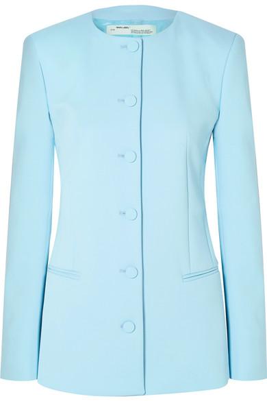 Off-White - Crepe Blazer - Light blue