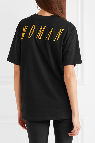 Off-White Besticktes T-Shirt aus bedrucktem Baumwoll-Jersey Günstiger Preis Versandkosten Für Spielraum Erhalten Authentisch ymerU