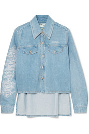 Off-White Veste en jean à broderies