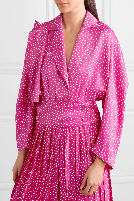 Off-White Printed satin blouse