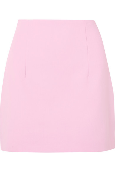Off-White - Crepe Mini Skirt - Baby pink