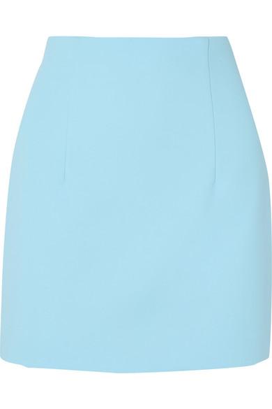 Off-White - Crepe Mini Skirt - Light blue