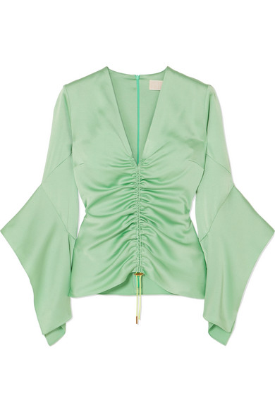 Ruched satin top