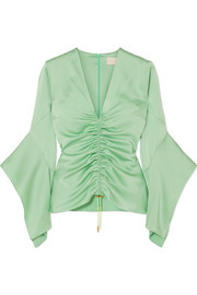 Peter Pilotto Ruched satin top