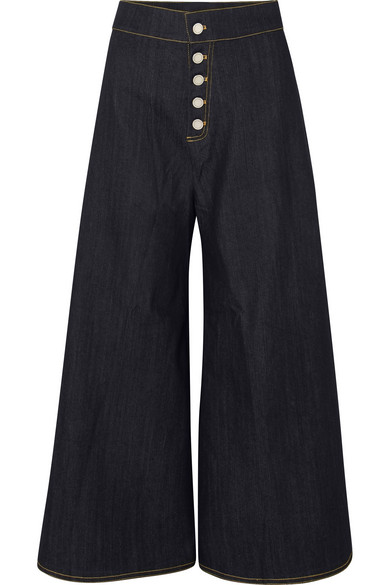 22acac7938b0 PAPER LONDON Kelly Cropped High-Rise Wide-Leg Jeans