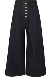 Coco high-rise wide-leg jeans