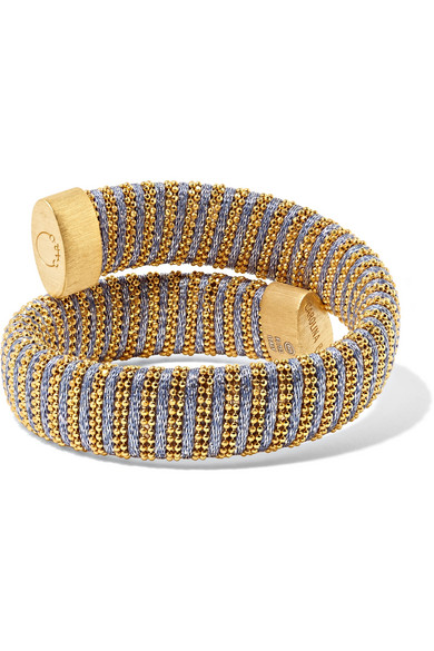 Carolina Bucci Caro Gold-plated And Cotton Bracelet LlmU0NI