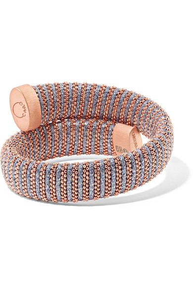 Carolina Bucci Caro Gold-plated And Metallic Cotton Bracelet dF8al