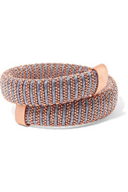 Carolina Bucci Caro rose gold-plated and metallic cotton bracelet