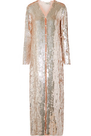 Temperley London Bardot sequined chiffon coat