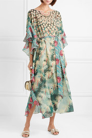 Temperley London Printed voile kaftan