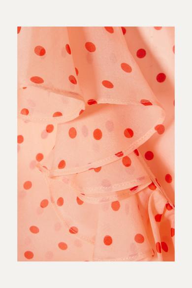 Temperley London Blouse Made Of Silk Chiffon With Polka-dots And Ruffles