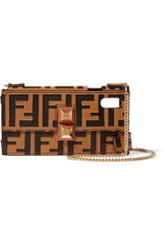 Fendi Printed leather iPhone X case