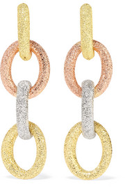 Huggy 18-karat gold earrings
