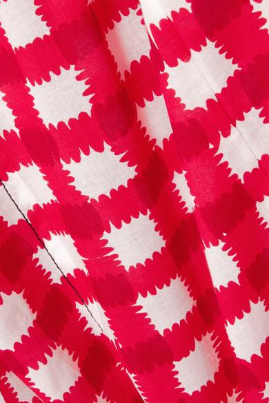 Robe Midi Marni En Popeline De Coton À Carreaux Vichy
