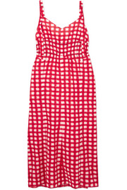 Marni Gingham cotton-poplin midi dress