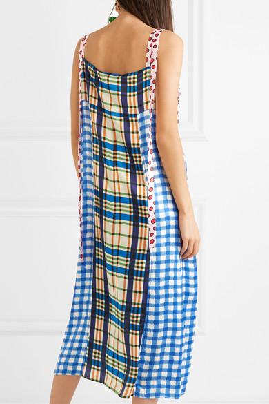 Marni Printed Dress In Satin