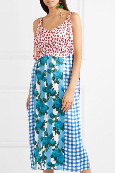 Marni Bedrucktes Kleid aus Satin