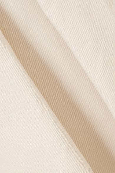 Marni Midirock aus Twill aus einer Baumwoll-Leinenmischung mit Falten