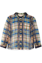 Marni Checked cotton-organza shirt