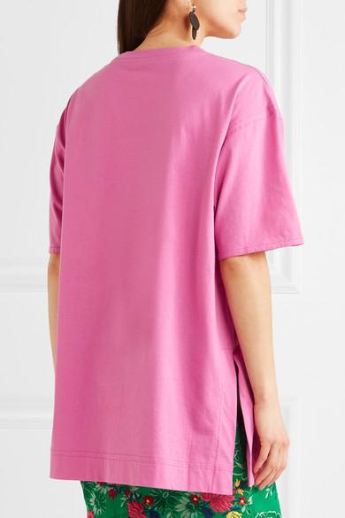 Marni T-Shirt aus Baumwoll-Jersey in Oversized-Passform