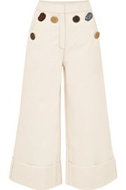 Bailey cropped high-rise wide-leg jeans