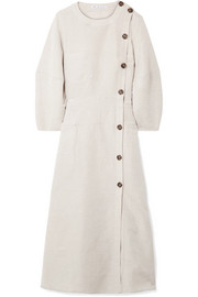 Michaela canvas midi dress