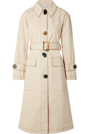 Hazel denim trench coat