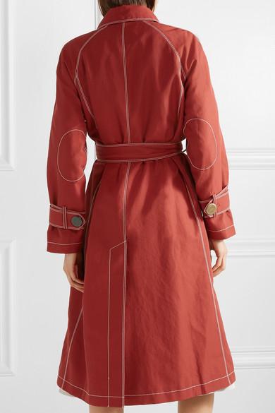 Hazel Canvas Trench Coat by Rejina Pyo