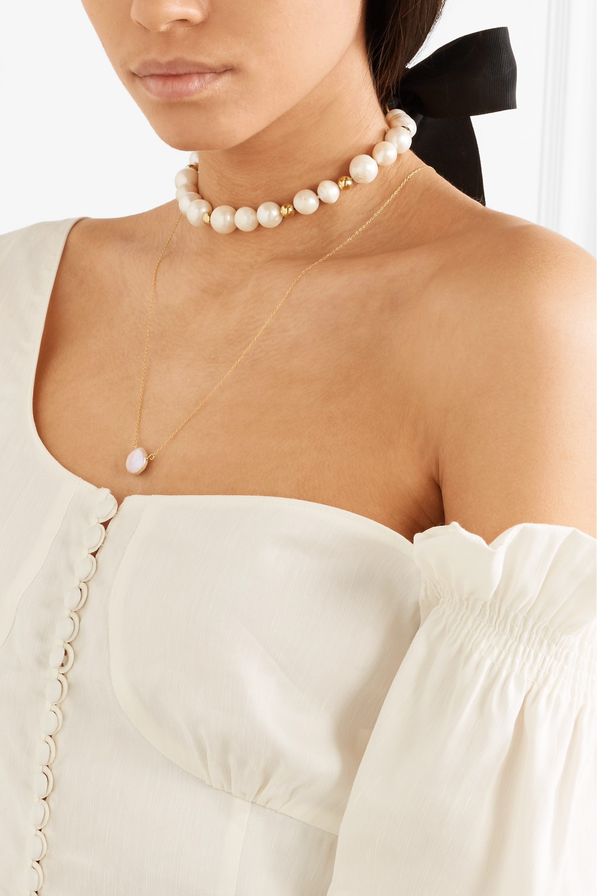 Magda Butrym Gold-plated pearl necklace
