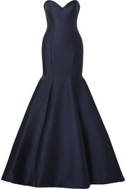 Monique Lhuillier Strapless satin gown