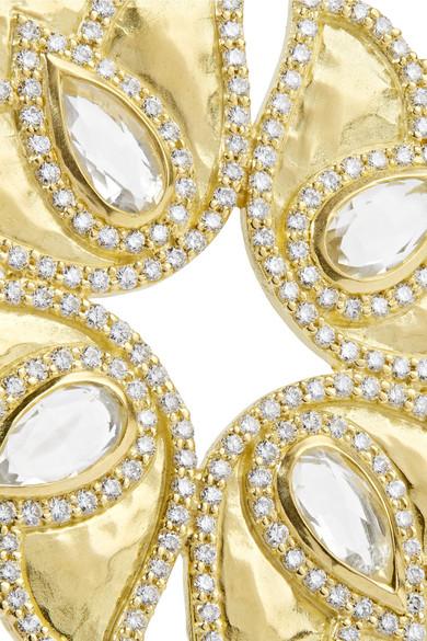 Amrapali Kaliyana 18-karat Gold, Topaz And Diamond Necklace