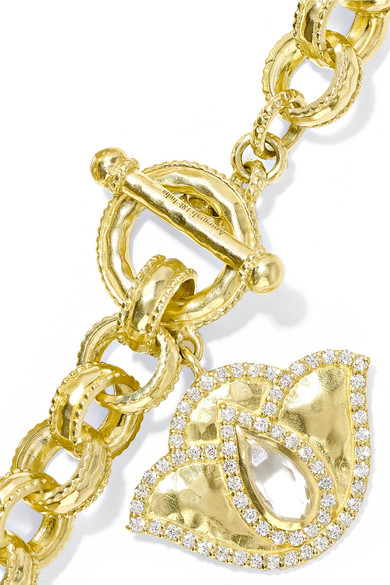 Thamarai Lotus 18-karat Gold, Topaz And Diamond Bracelet - one size Amrapali