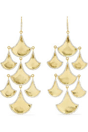 Kimaya 18-karat gold diamond earrings