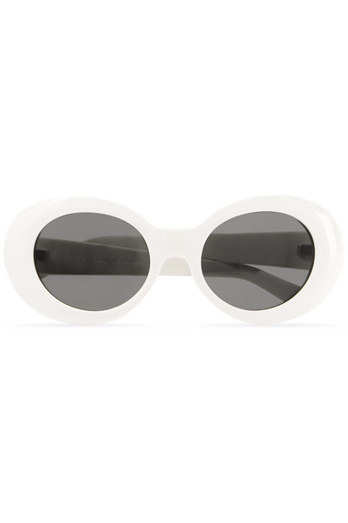 6efe7f255f6ae Acne Studios. Mustang oval-frame acetate sunglasses
